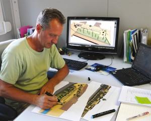 Le bureau d'étude chez un architecte paysager