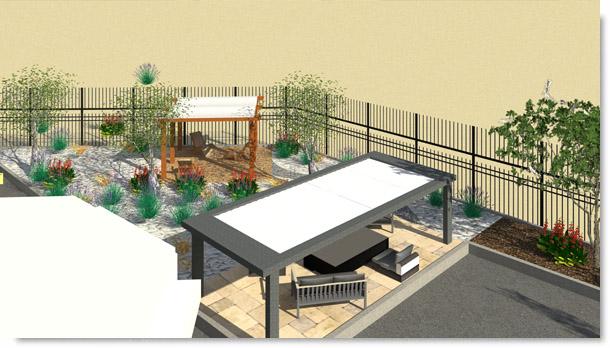 Sud Paysage Service - Réaménagements parking et création showroom extérieur professionnel