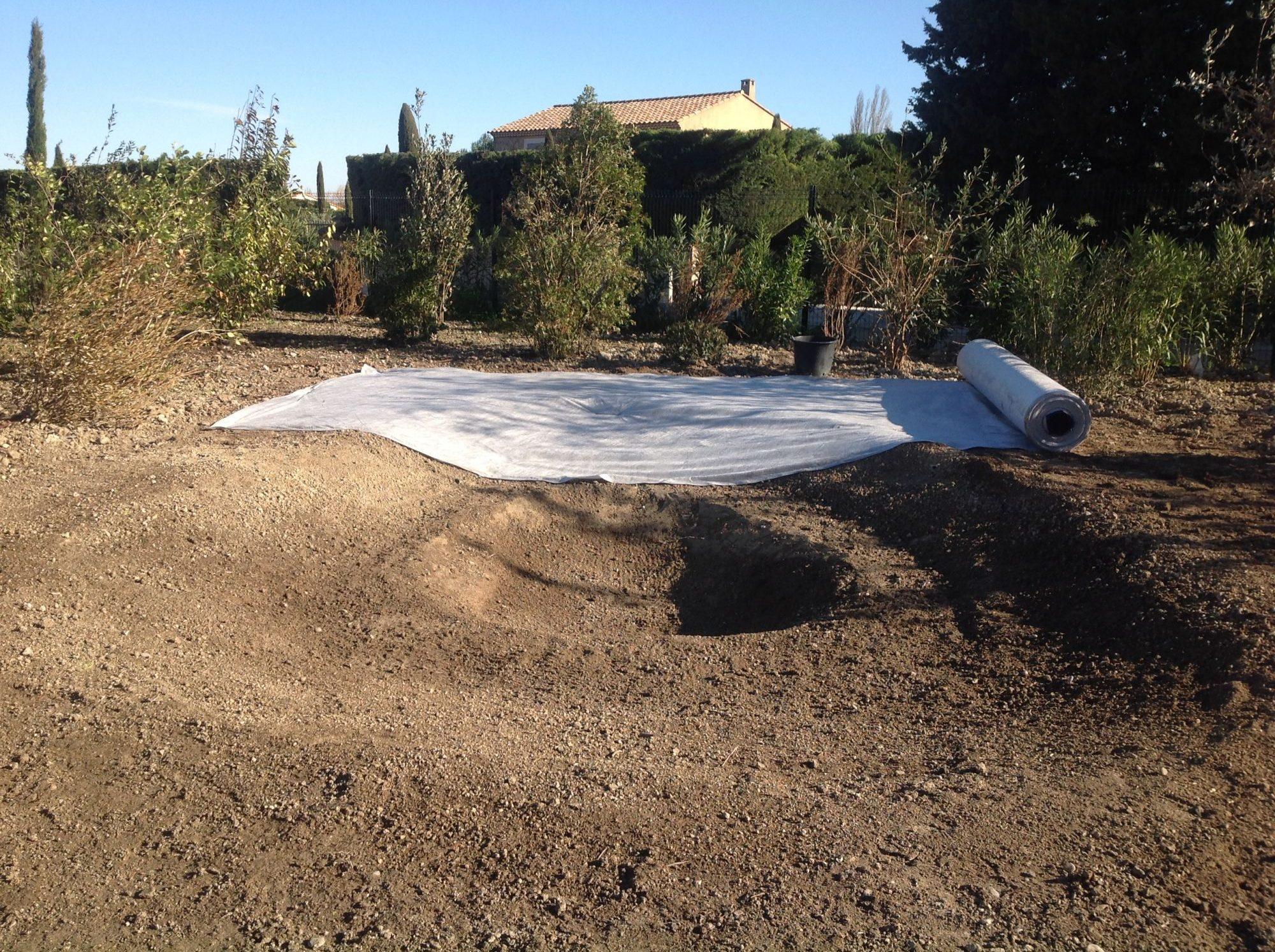 Mise en place des courbes et formes du bassin avec poche de survie du bassin